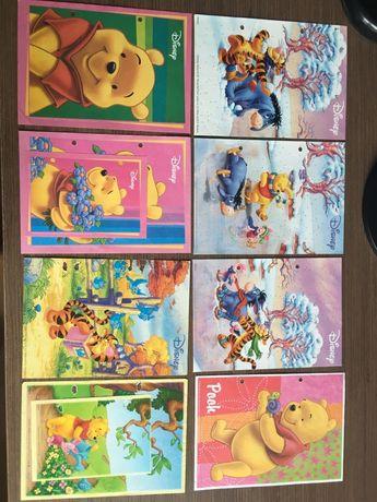 Karteczki kolekcjonerskie kubuś puchatek, bajki