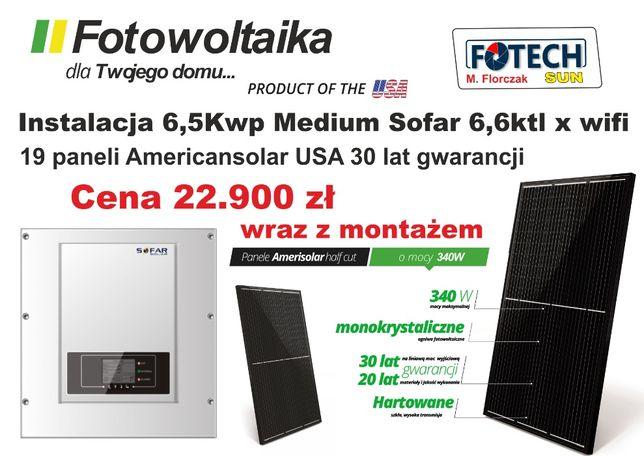 Fotowoltaika-Instalacja 6,5 Kw z montażem -22.900 brutto