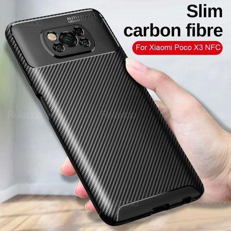 Capa T/ Fibra Carbono Xiaomi Poco X3 / Poco X3 NFC / X3  Pró / M3 / F3