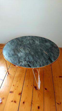Nowy stolik kawowy maxliving okrągły złoty marmur