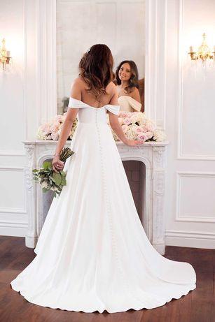 Suknia ślubna Stella York 6718 satyna mikado