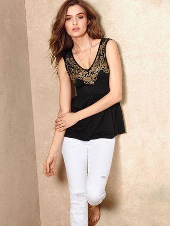 Victoria's secret sequin skirt tank top blouse tunic оригинал блуза