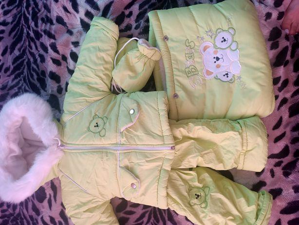Комбінезон дитячий куртка зимова