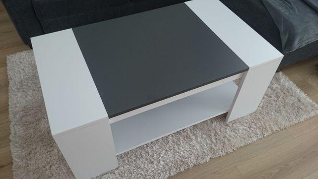 Nowoczesny, stylowy, elegancki biały stolik kawowy do salonu