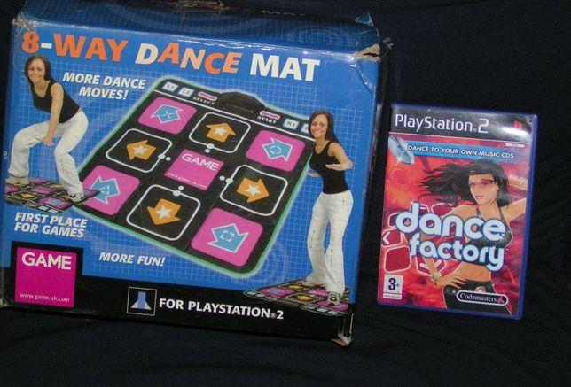 Mata do tańczenia + gra dance factory Playstation 2