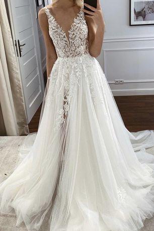 Suknia ślubna Nelly 2021 Tom Sebastien biala sukienka wesele