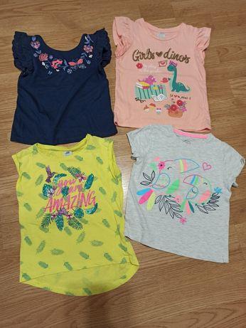 Bluzeczki rozm 104 bluzeczka na lato