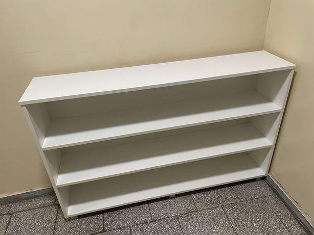 Regał biały drewniany 140 x 30 x 85