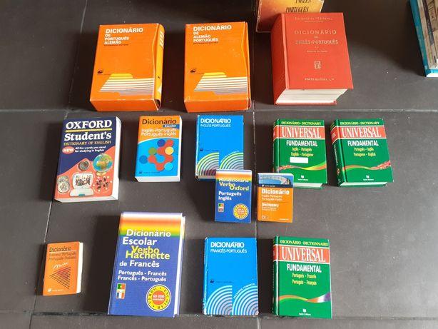 Dicionários várias línguas - conj. 15 unidades