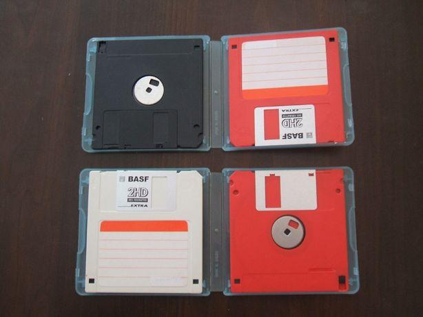 """Kolekcjonerskie dyskietki komputerowe, używane 1,44 MB-2 HD """"Basf"""""""