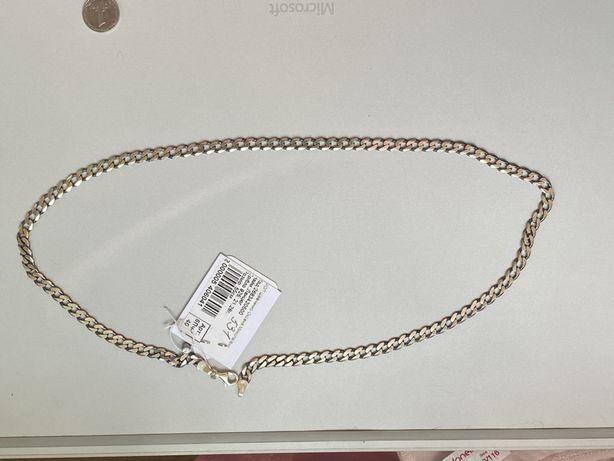 Серебрянная цепочка мужская (новая) 55см 21 грам
