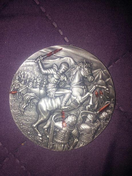 Srebrna moneta Spartakus-Wielcy Dowódcy