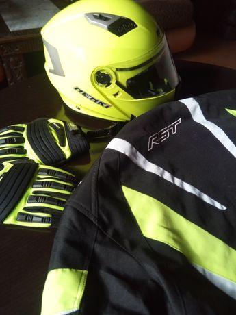 Kask M/L kurtka XL motocyklowa RST rękawice