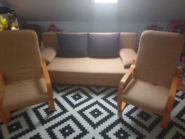Zestaw wypoczynkowy sofa 2 fotele