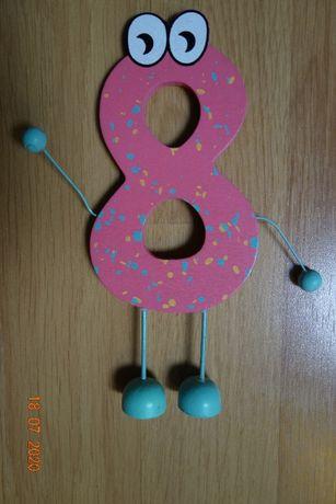 Ozdoba urodzinowa 8 osiem ósemka jak nowa