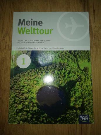 Nowy zeszyt ćwiczeń do j. niemieckiego Meine Welttour 1