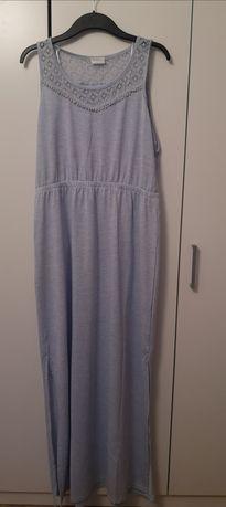 Błękitna Maxi sukienka