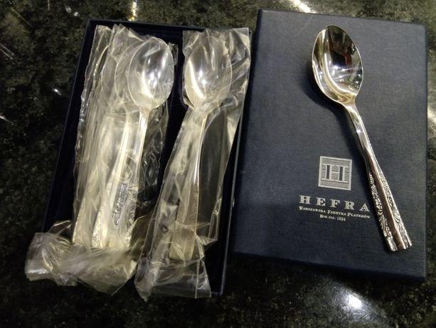Hefra zestaw małych łyżeczek model wschodni platerowane srebrem