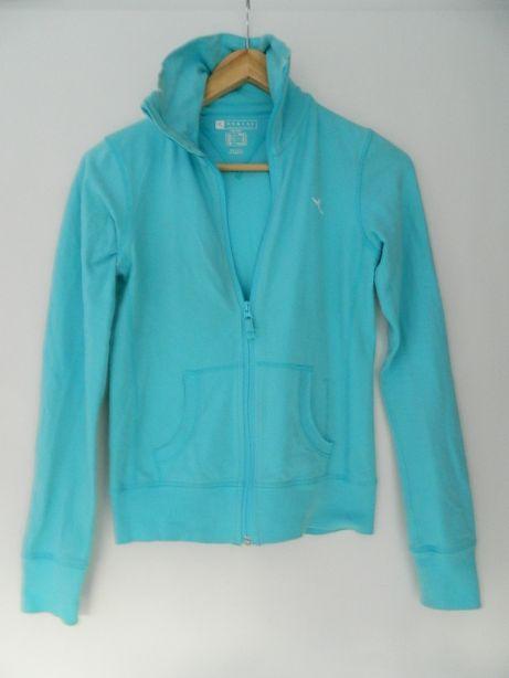 Bluza sportowa NIEBIESKA bieganie narty termiczna sweter h 36 38 4f
