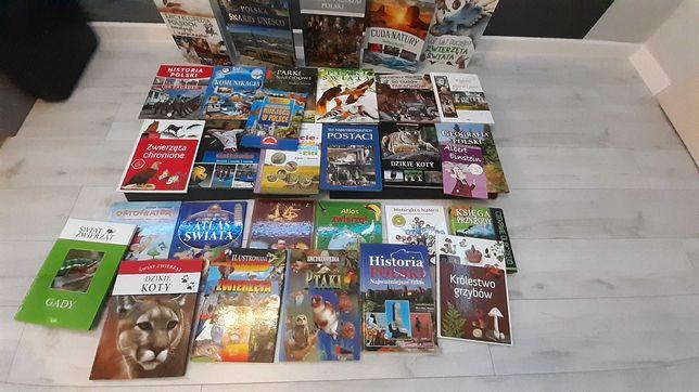 Książki popularno-naukowe, encyklopedie, atlasy 31 sztuk