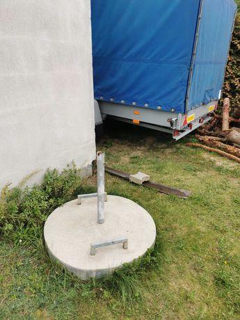 Stojak na duży ciężki parasol zbrojony betonowy samorobny