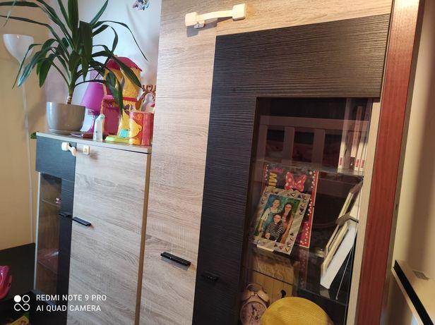 Komplet mebli podświetlanych do salonu, pokój szafka RTV, ława, komody
