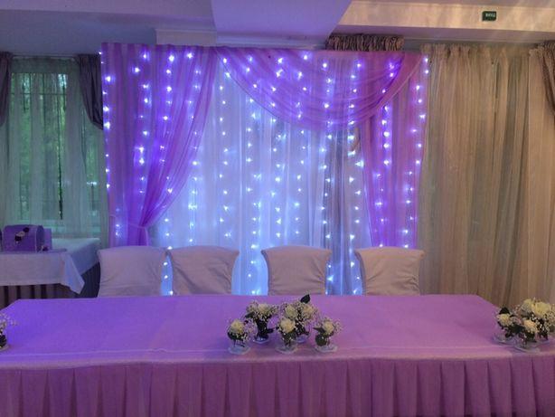 Свадебная арка. Свадебный декор. Президиум молодых. Вазы для цветов