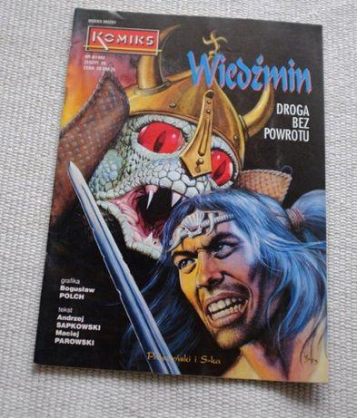 komiks Wiedźmin Droga bez powrotu 8/1993 Sapkowski BDB wyd. 1