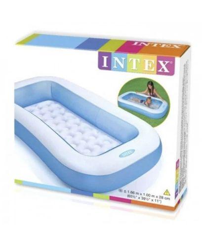 Надувной бассейн Intex(Интекс) 166х100х25 см - С НАДУВНЫМ ДНОМ