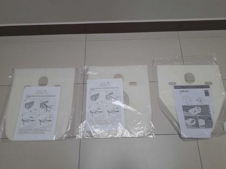 mata do WC, podkładka izolacyjna do miski ustępowej i bidetu 3 szt.
