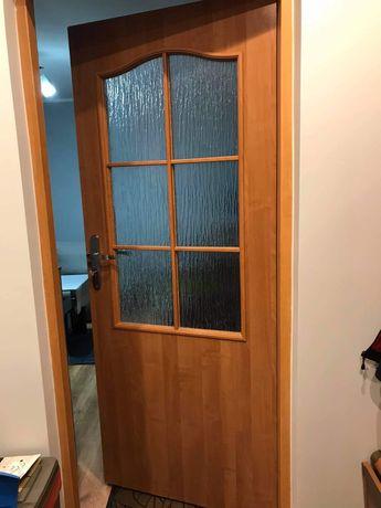 Lewe drzwi dab/ braz