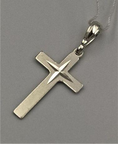 Krzyżyk srebrny zawieszka cięcie diamentowe RS-67