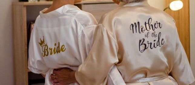 Ślub Zestaw szlafroków dla Panny Młodej S-L i Mamy L/XL