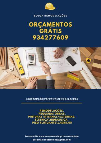 Pintura, piso, remodelações, solda e serralharia, obras em geral
