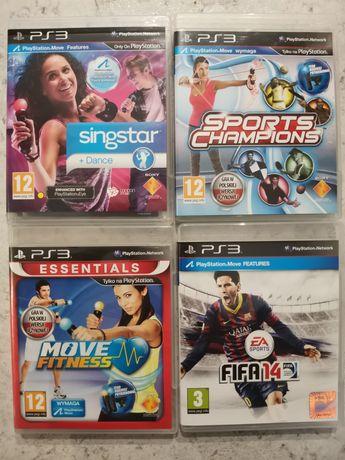 4Gry zestaw Ps3 Singstar Dance, FIFA 14, Sports champion, Move fitness