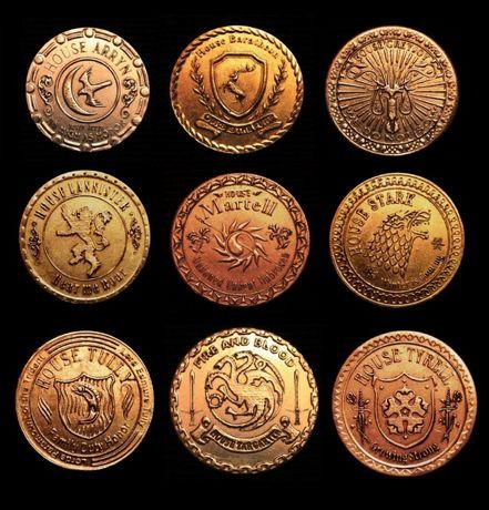 Эксклюзивная коллекция монет Вестероса Игра Престолов game of thrones