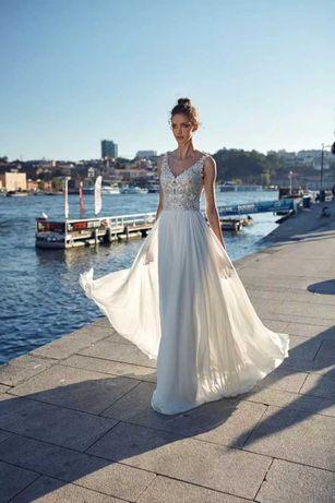 suknia ślubna Maggia Annais Bridal rozm. 36-38 ramiączka/długi rękaw