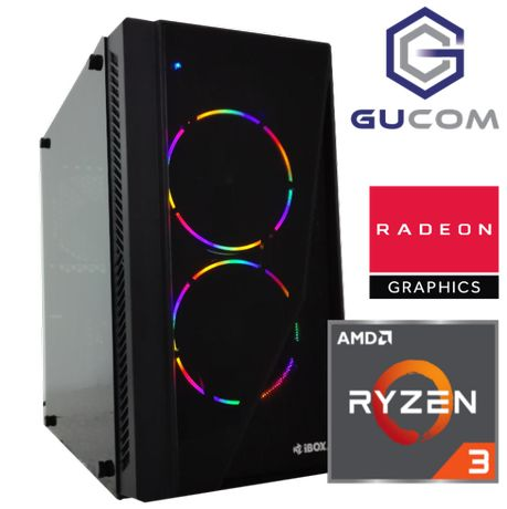 Komputer do gier RYZEN RX580 16GB DDR4 SSD W10 LED