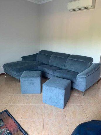 Sofá de 3 lugares com chaise