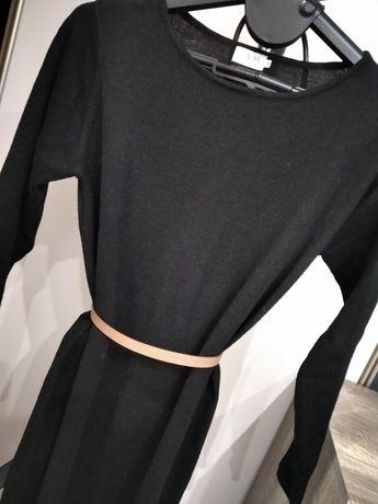 Sweter sukienka czarna