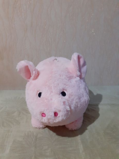 Копилка - сувенир мягкая игрушка розовая свинка