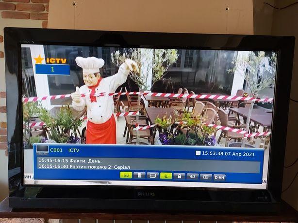 """Телевизор Philips 42"""" + смарт приставка"""