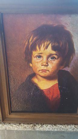 Pintura antiga a óleo