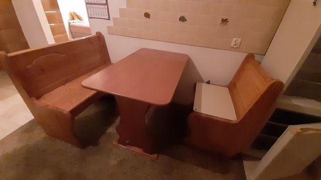 Ława stół ławki drewniane