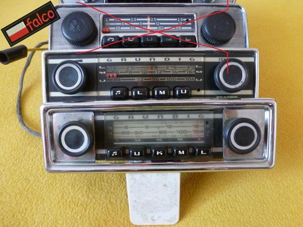 2x Radio GRUNDIG klasyk chromowane czarne BDB polski UKF