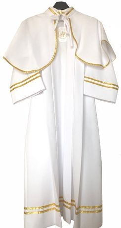 Alba sukienka komunijna do komunii z peleryną dla dziewczynki rozm 128