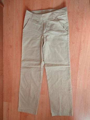 Оригинальные легкие летние льняные штаны Adidas Брюки Лен хлопок
