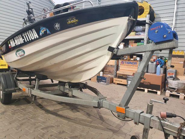 Łódka wędkarska z silnikiem 9.9km i przyczepą