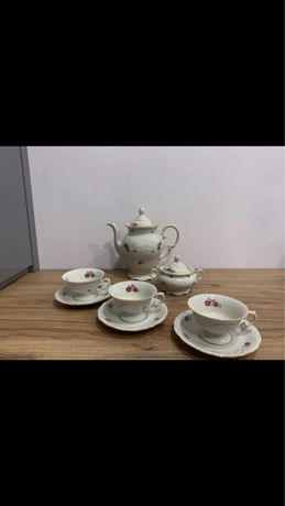 Serwis kawowy / Kmp/ porcelana / prl / vintage /