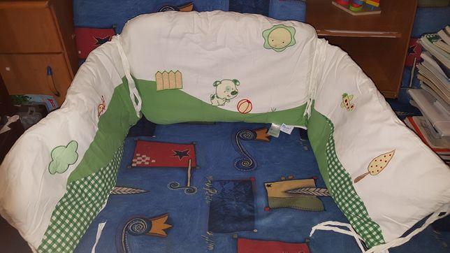 Komplet ochraniacz do łóżeczka Poszewka na kołdrę i poduszkę Feretti